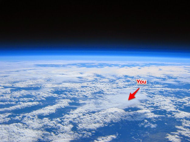 18 Photos That Will Make You Reconsider Your Existence! - At 100,000 feet, this is you