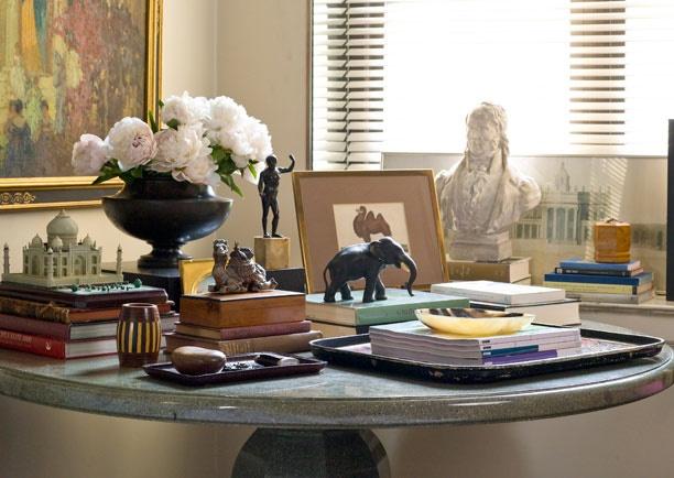 Foyer Table Vignettes : Apartmentf my favorite peony vignettes