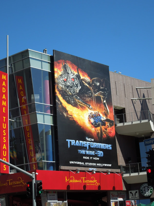 Transformers Ride 3D billboard