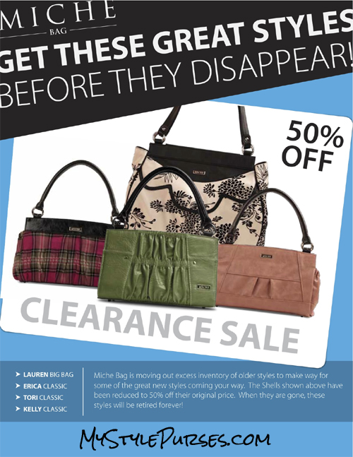 Miche Bags Half Price Sale - 50% off Coupon - Hal Price Miche Shells