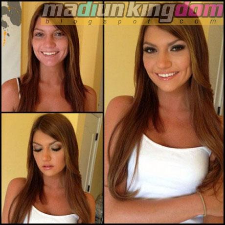 Cassandra+Nix Foto: 12 Artis Porno Sebelum dan Sesudah Make Up