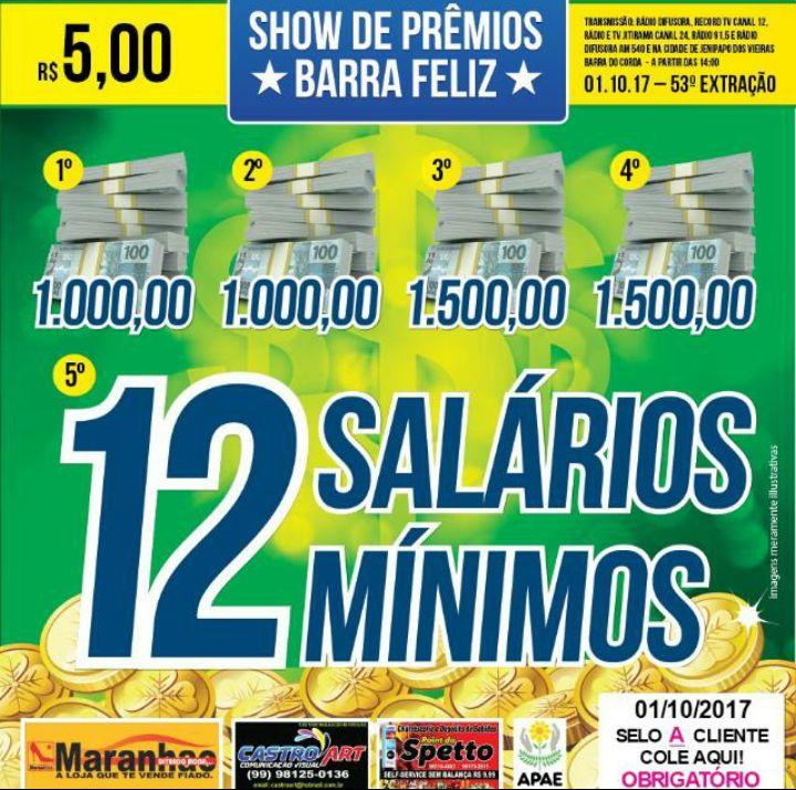 SHOW DE PRÊMIO BARRA FELIZ