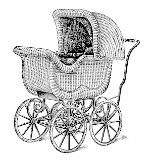 vintage baby carriage image