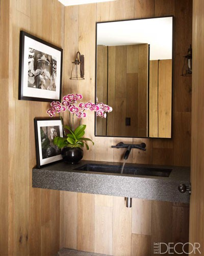 look how good wall mount faucets look with dual basin sinks so pretty and so much