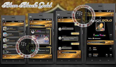 BBM MOD BLACK-GOLD THEMES NEW VERSION 2.10.0.35