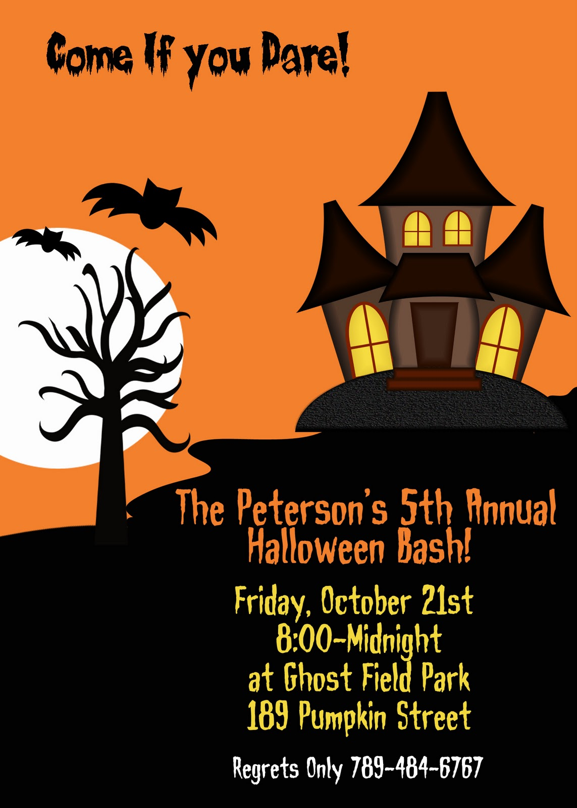 Halloween Party Invitation : Halloween Costume Party Invitation ...