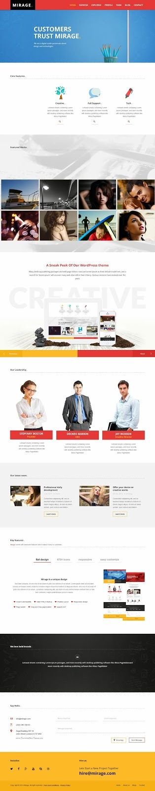 Responsive Portfolio WordPress Theme 2015