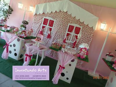 festa decoração casinha bonecas
