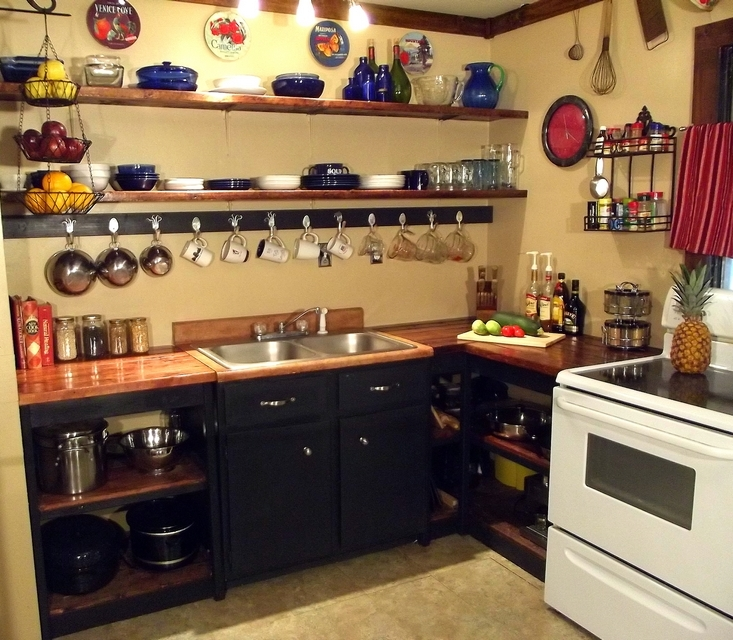 Open Kitchen Cabinets: Mama's Got A Chainsaw: DIY New Kitchen On A Budget