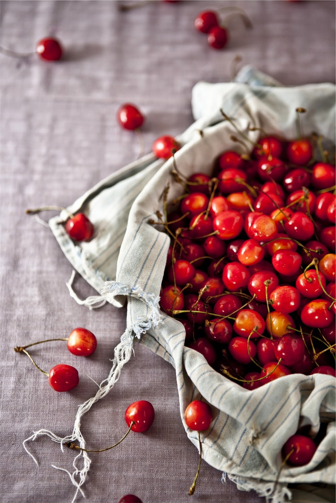 cherries, really pretty ones