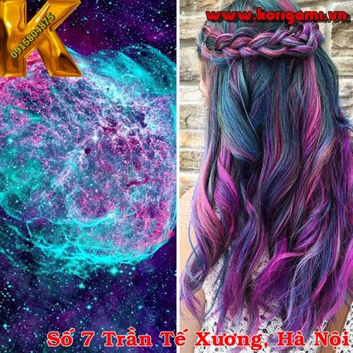hair color, nhuộm, galaxy