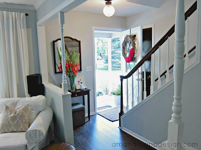 Room Before Foyer : Amanda rapp design our first house entryway and living