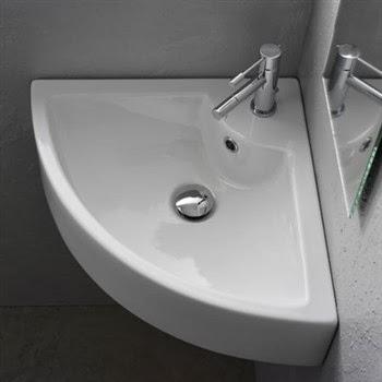 Evoluzione bagno lavabo ad angolo for Lavandino ad angolo ikea