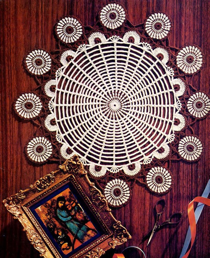 tejidos artesanales en crochet: carpeta pavo real