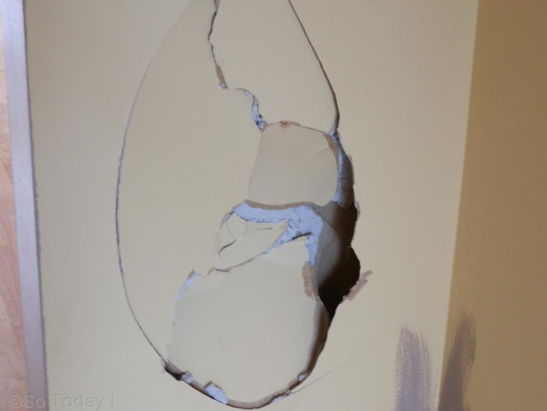 how to fix a hole in jiprock wall