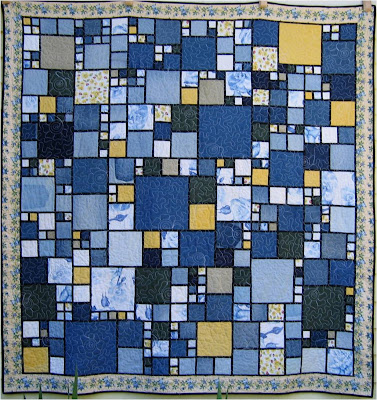Free Sewing Pattern - Circle Jeans Quilt from the Quilting Free