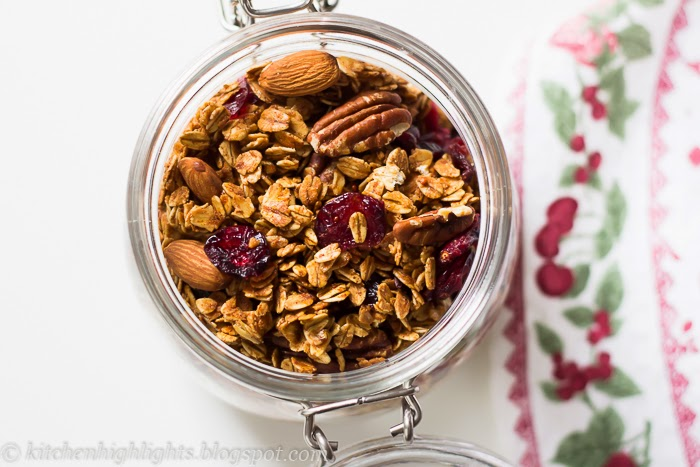 Granola is a healthy, nutritious and delicious type of crispy cereal that is often served for breakfast or as a snack