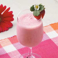 strawberry and orange shake