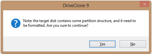 drive formating confirmation