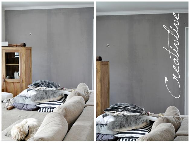 Graue Wand Wei?e M?bel Wohnzimmer gestalten grau braun dumss