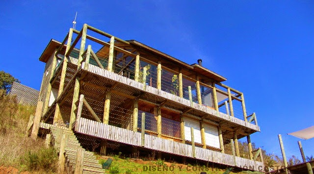 Arquitectura de Casas: Casa de madera contemporánea tipo cabaña en ...