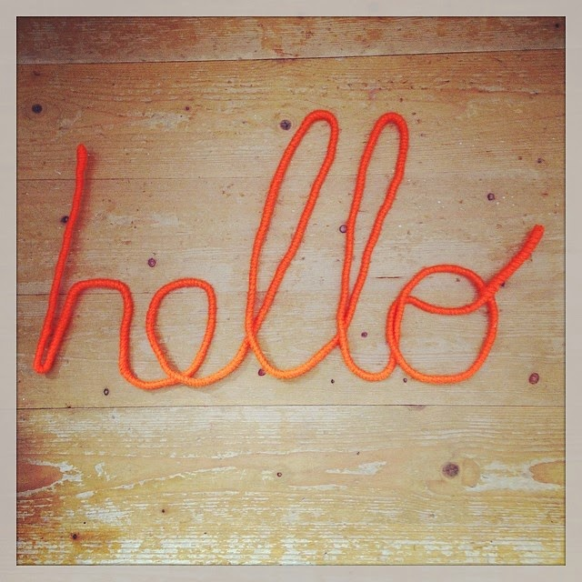 wire wrapped wire spelling hello