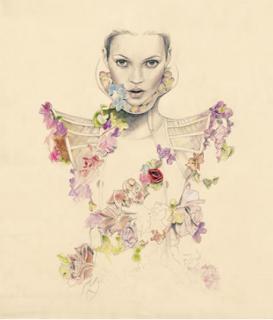 Cedric Rivrain  dessin illustration de mode poétique
