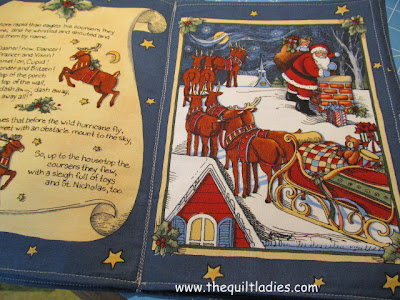 Christmas Fabric Book