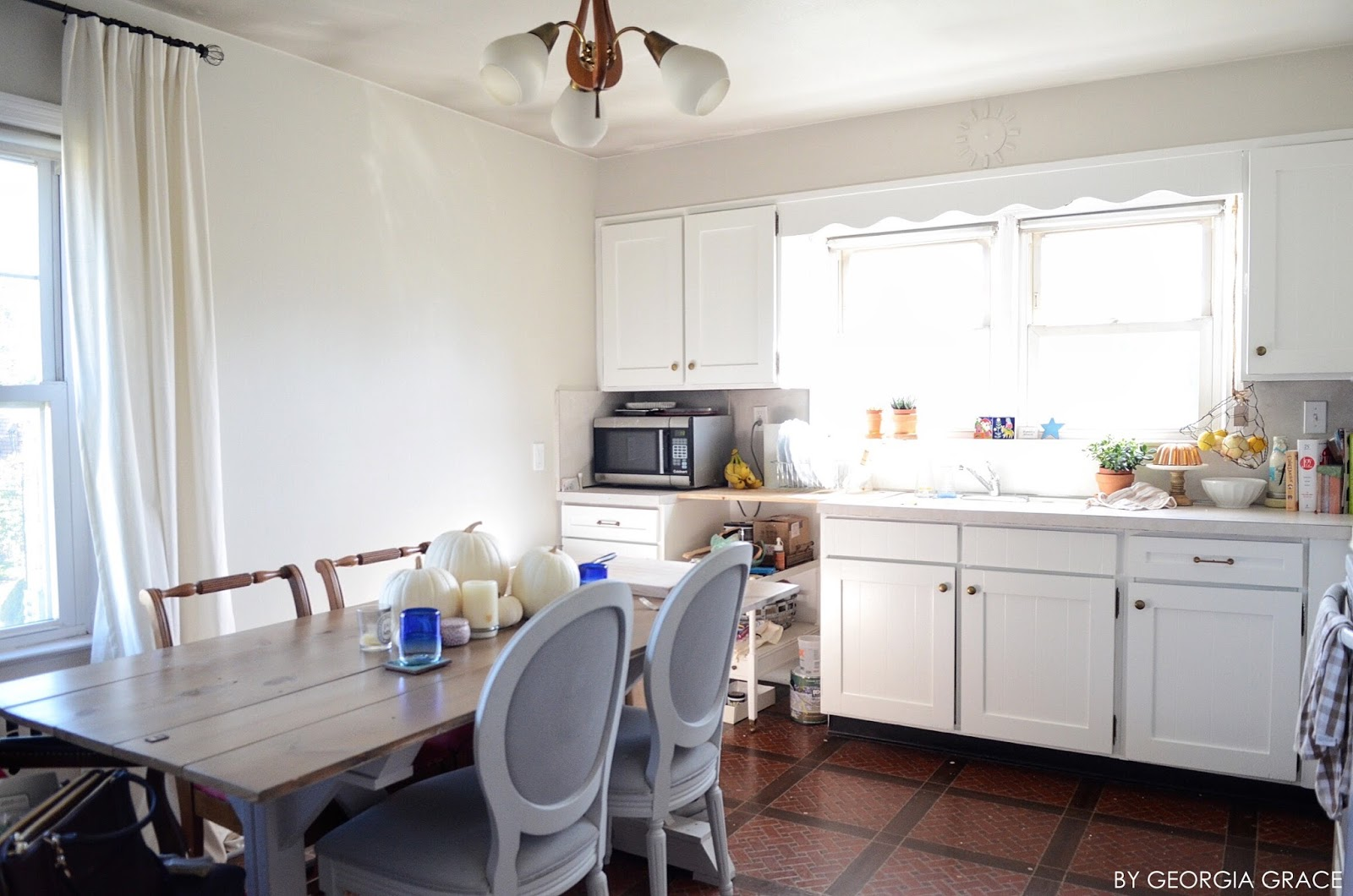 Kitchen: New Painted Cabinets & Walls | By Georgia Grace