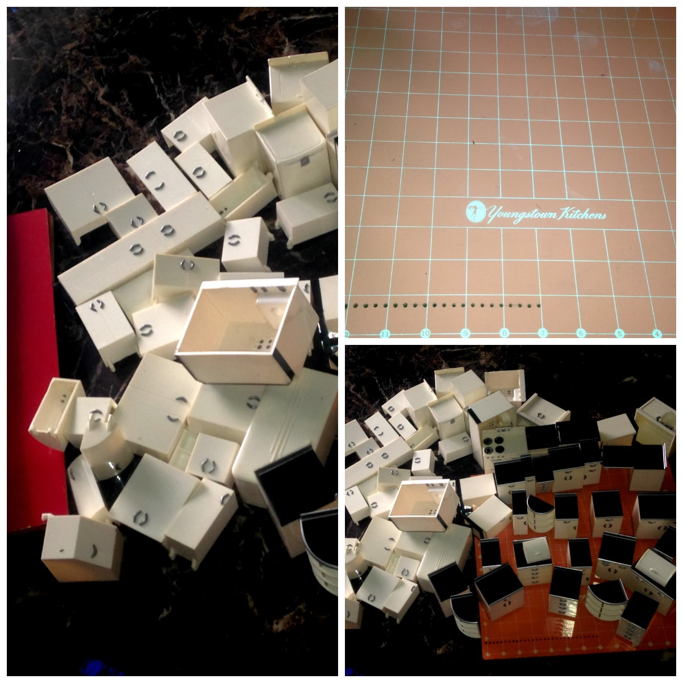 Youngstown Kitchen Salesman Set Plastic Miniatures