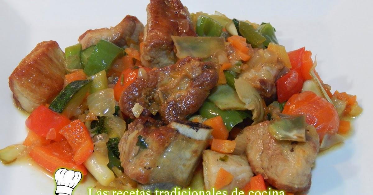 Receta de costillas de cerdo con verduras recetas de - Arroz con verduras y costillas ...