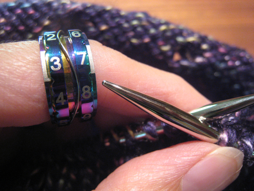 Knitting Counter Ring : Knot knecessarily known knitting gadget