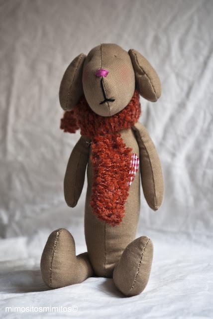 muñecos de tela hecho a mano perros gatos