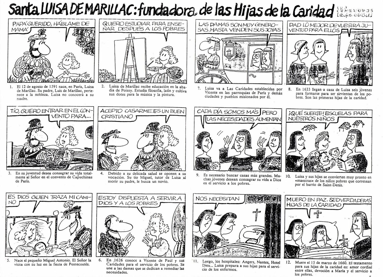 LUISA DE MARILLAC: CÓMIC VIDA LUISA MARILLAC