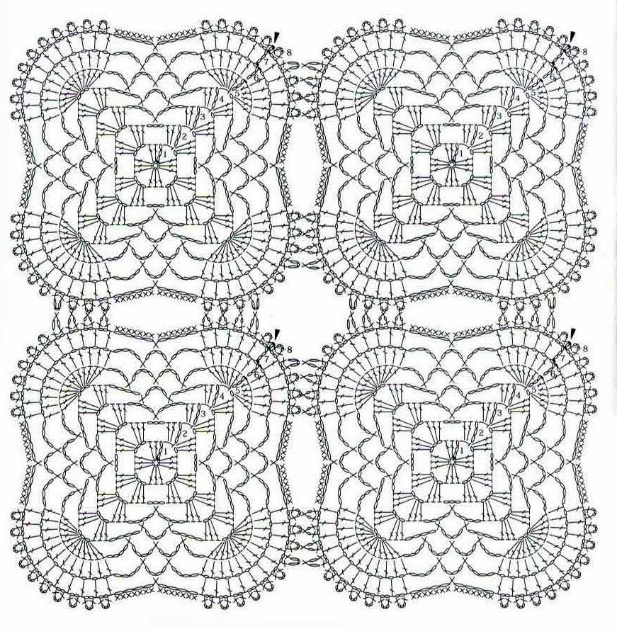 Tejidos artesanales en crochet mantel rectangular tejido for Como hacer un sobre rectangular