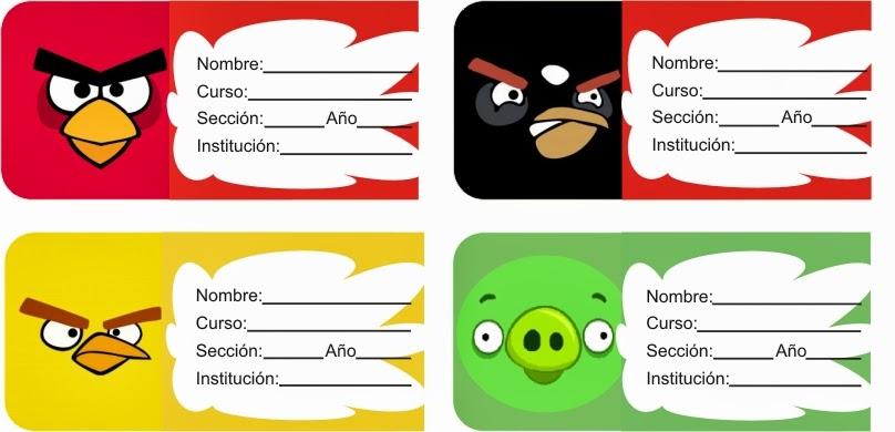 Etiquetas de Angry Birds para imprimir - Imagui