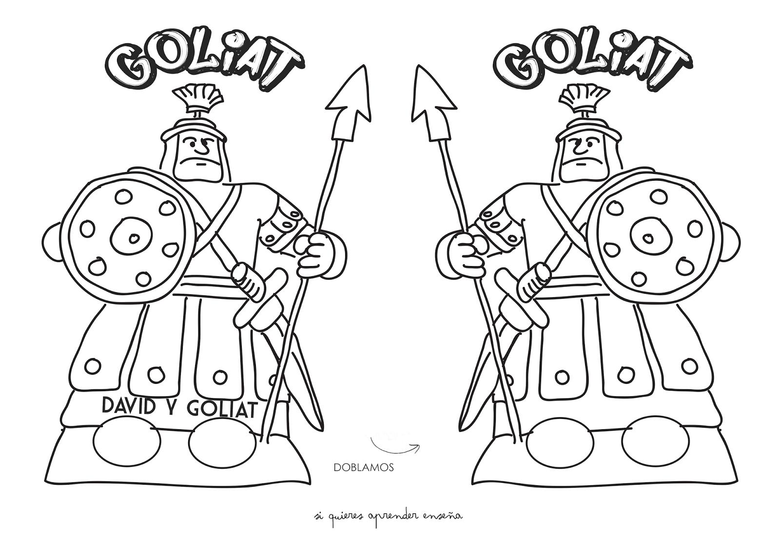 Excepcional David Y Jonathan Para Colorear Bosquejo - Dibujos Para ...