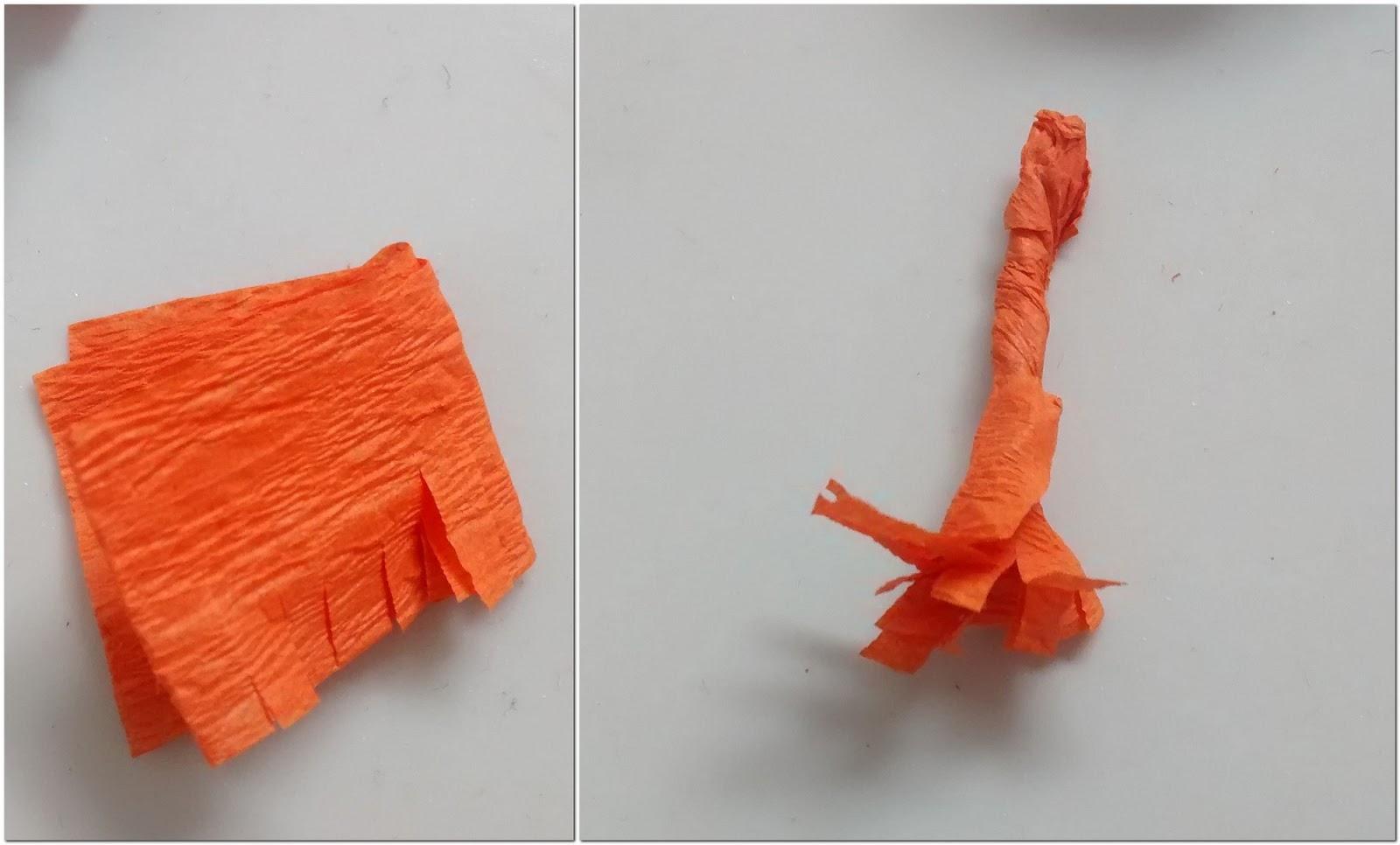 The sunshine corner diwali decor crepe paper marigolds for Decor using crepe paper