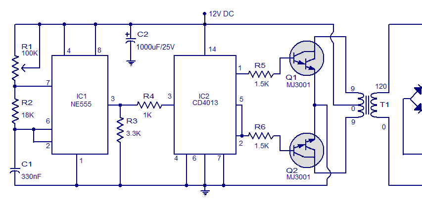 Schematic  U0026 Wiring Diagram  Simple Circuit 12v To 120v Dc