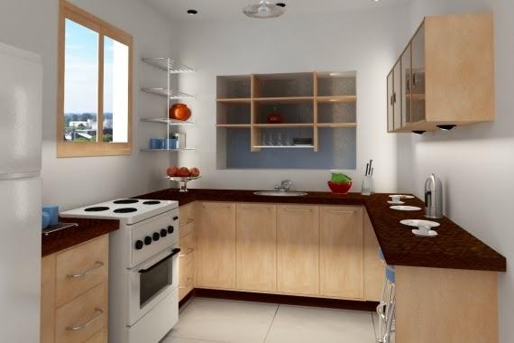 Gambar Dapur Kecil Minimalis Bersih dan Rapi