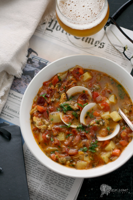 Manhattan Clam Chowder Redux - All Roads Lead to the Kitchen