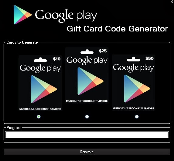 google play gift card code generator