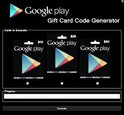 Google Play Gift Card Codes Free