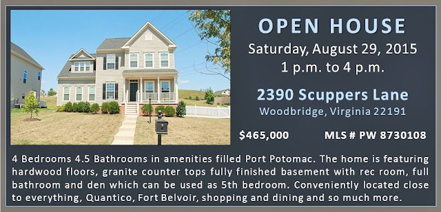 Port Potomac Community OPEN HOUSE  2390 Scuppers Lane Woodbridge PW8730108 August 29 Claudia S Nelson