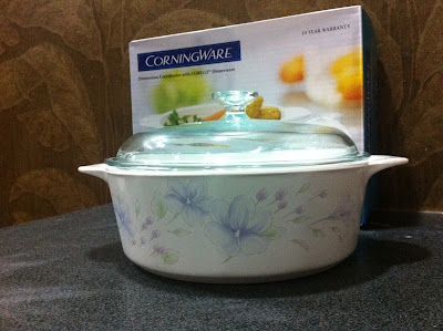 corelle, corningware, vision