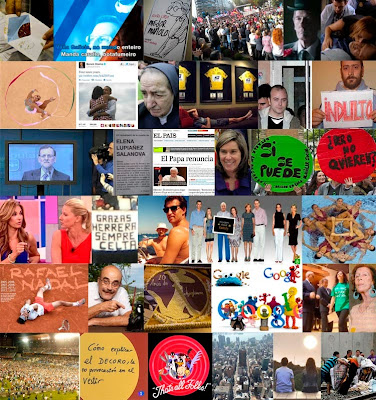 Fotos representativas de las entradas entre septiembre de 2012 y de 2013