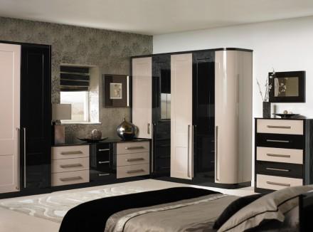 High gloss black bedroom furniture uk