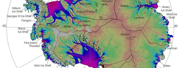 έρευνα τής  NASA  οδηγεί στόν πρώτη πλήρη χάρτη της κίνηση των πάγων της Ανταρκτικής