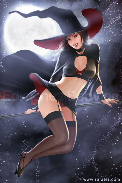 Halloween Pin Up Witch