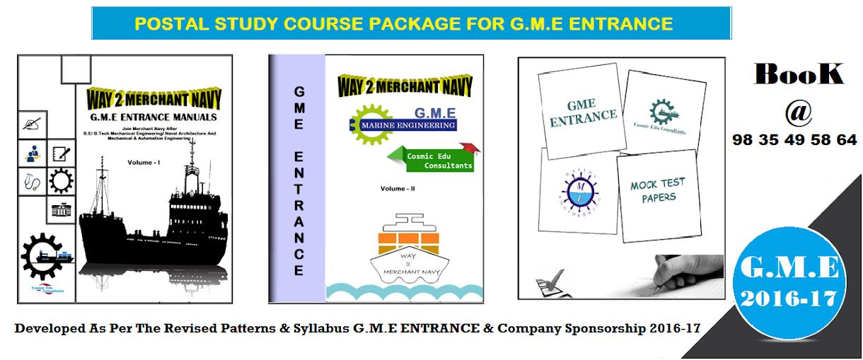 GRADUATE MARINE ENGINEER- G.M.E 2016-17, B.Tech Marine Engineering / Marine Engineering